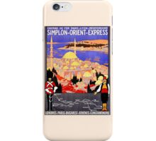 Vintage Simplon Orient Express London Constantinople iPhone Case/Skin
