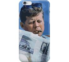 Painting John F. Kennedy and quotation iPhone Case/Skin