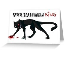 Scourge - All Hail The KING Greeting Card