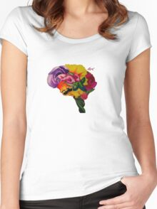Floral Brain Women's Fitted Scoop T-Shirt