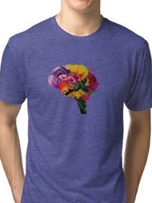 Floral Brain Tri-blend T-Shirt