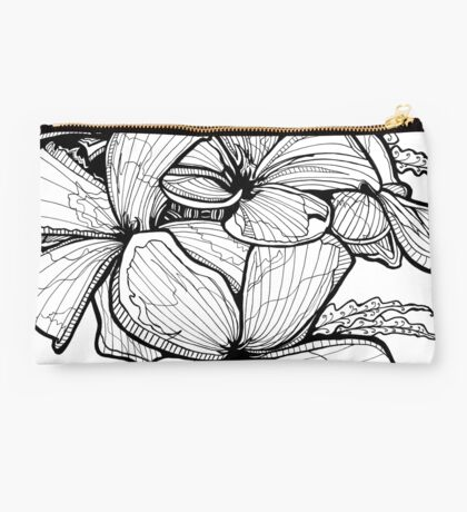 Celadine - Ink Flower Drawing Studio Pouch
