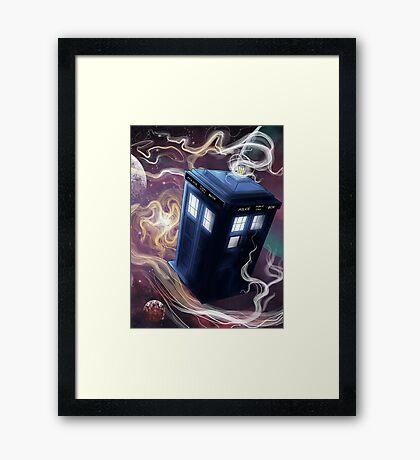 TARDIS In The Time Vortex Framed Print