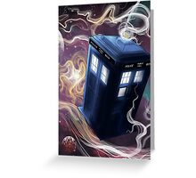 TARDIS In The Time Vortex Greeting Card