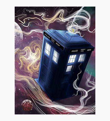 TARDIS In The Time Vortex Photographic Print
