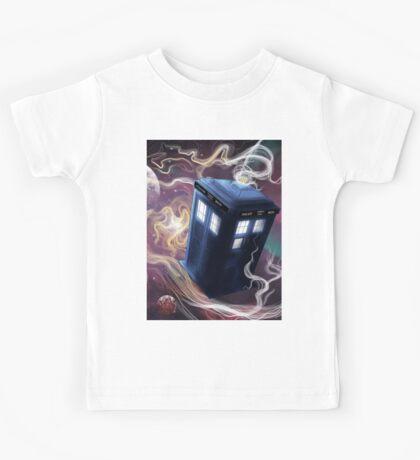 TARDIS In The Time Vortex Kids Tee
