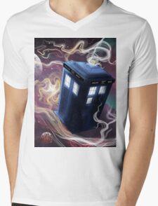 TARDIS In The Time Vortex Mens V-Neck T-Shirt