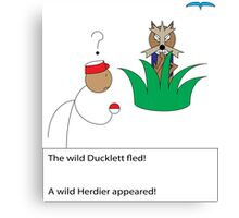 A Wild Herdier Appeared! Canvas Print
