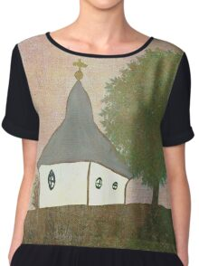 The Little Chapel on the Hill Chiffon Top