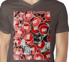 NO! Mens V-Neck T-Shirt