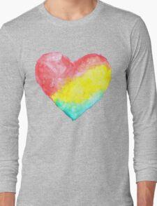 cute watercolor heart Long Sleeve T-Shirt