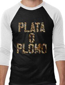 Plata o Plomo Men's Baseball ¾ T-Shirt
