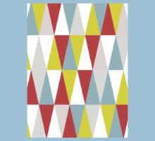 Geometric Triangle One Piece - Short Sleeve