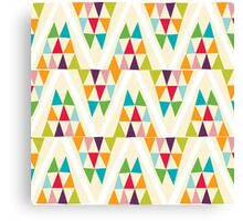 Geometric Multicolor Triangle Pattern Canvas Print