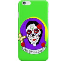 Day of The Dead Painted Lady Scrolls Roses Graphic iPhone Case/Skin