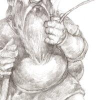 Smoking Dwarf Sticker