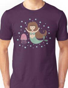 Cute mermaid and jellyfish Unisex T-Shirt