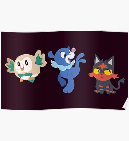 7th Gen Starters Poster