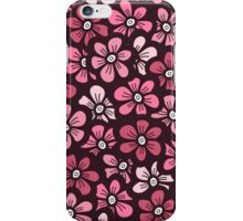 beautiful pink floral pattern iPhone Case/Skin