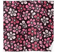 beautiful pink floral pattern Poster