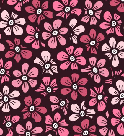 beautiful pink floral pattern Sticker