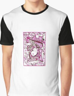 """""""Love in Rasberry and Chocolate"""" Word Art Products Graphic T-Shirt"""