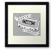 Cassette - Never Forget Framed Print