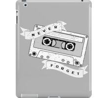 Cassette - Never Forget iPad Case/Skin