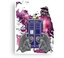 Weeping For The Tardis Canvas Print