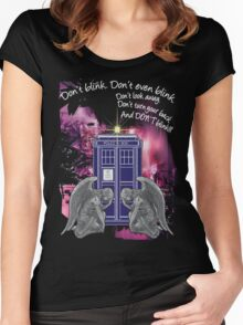 Weeping For The Tardis Women's Fitted Scoop T-Shirt