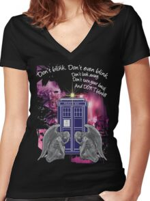 Weeping For The Tardis Women's Fitted V-Neck T-Shirt