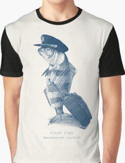 The Pilot (monochrome) Graphic T-Shirt