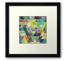 Due Tomorrow? Do Tomorrow. Geometric Background Framed Print