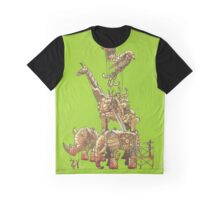 The Clockwork Menagerie (Lime) Graphic T-Shirt