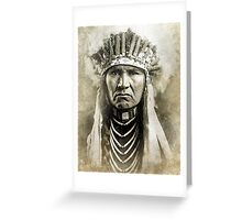 Indian Chief 3 Greeting Card