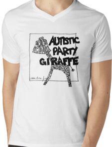 Autistic Party Giraffe Mens V-Neck T-Shirt
