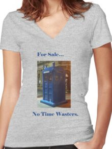 Tardis for sale! Women's Fitted V-Neck T-Shirt