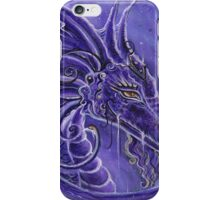 The purple dragon fantasy art by Renee Lavoie iPhone Case/Skin