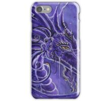 The purple dragon fantasy art by Renee Lavoie iPhone Case/Skin