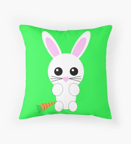 Cute Bunny Throw Pillow