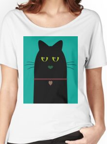 BLACK CAT PORTRAIT #3 Women's Relaxed Fit T-Shirt