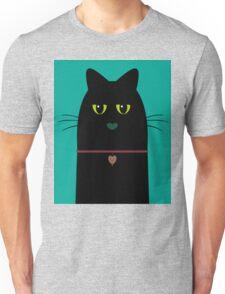BLACK CAT PORTRAIT #3 Unisex T-Shirt
