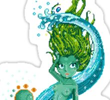 Pixel Mermaid Sticker