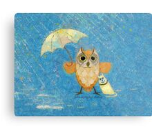 WALK IN THE RAIN Metal Print