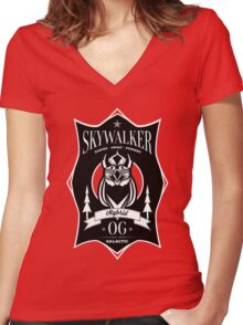 Skywalker Cannabis Strain Women's Fitted V-Neck T-Shirt