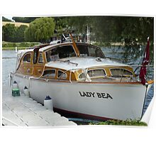 Traditional Thames Wooden Boat Poster