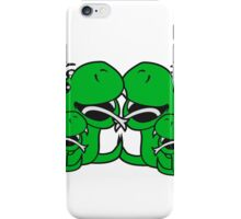 cartoon papa mama family team few fathers day, boy, girl mothers sweet little cute child baby snake comic iPhone Case/Skin