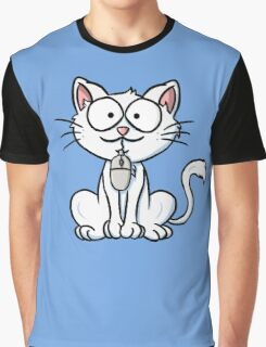 Cat caught the mouse Graphic T-Shirt