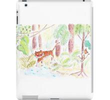 Jungle friends : tiger and monkey iPad Case/Skin