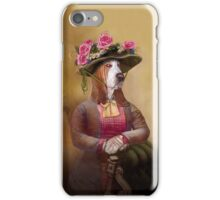 Victorian Lady in a springtime hat. iPhone Case/Skin